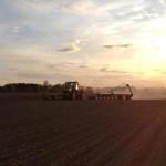 Dan planting corn