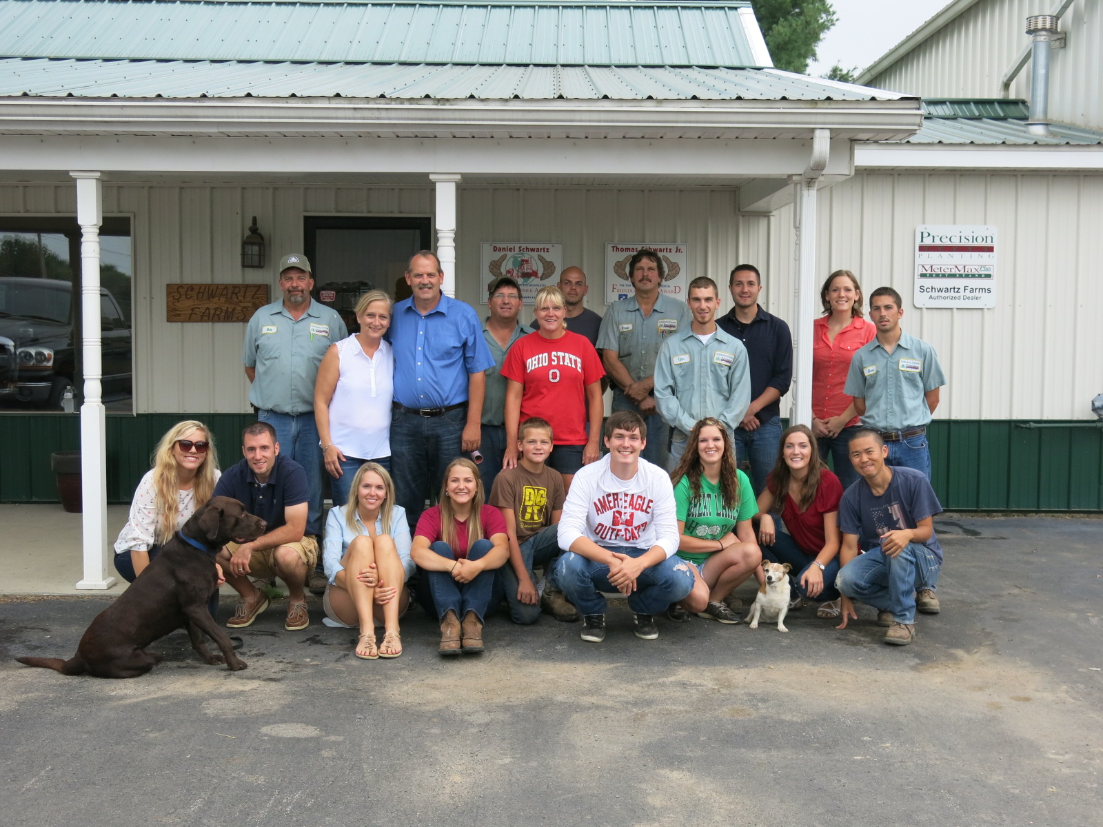 Schwartz Farms family and employees, August 2014