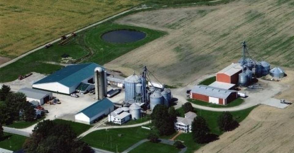 farm aerial photo